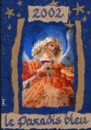 ange bleu musicien